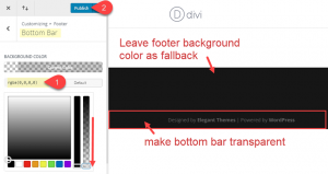 make bar transparent